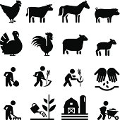 Farming, animal and other agricultural icons. Professional vector icons for your print project or Web site. See more in this series.