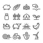 Farming Icons - Line Series