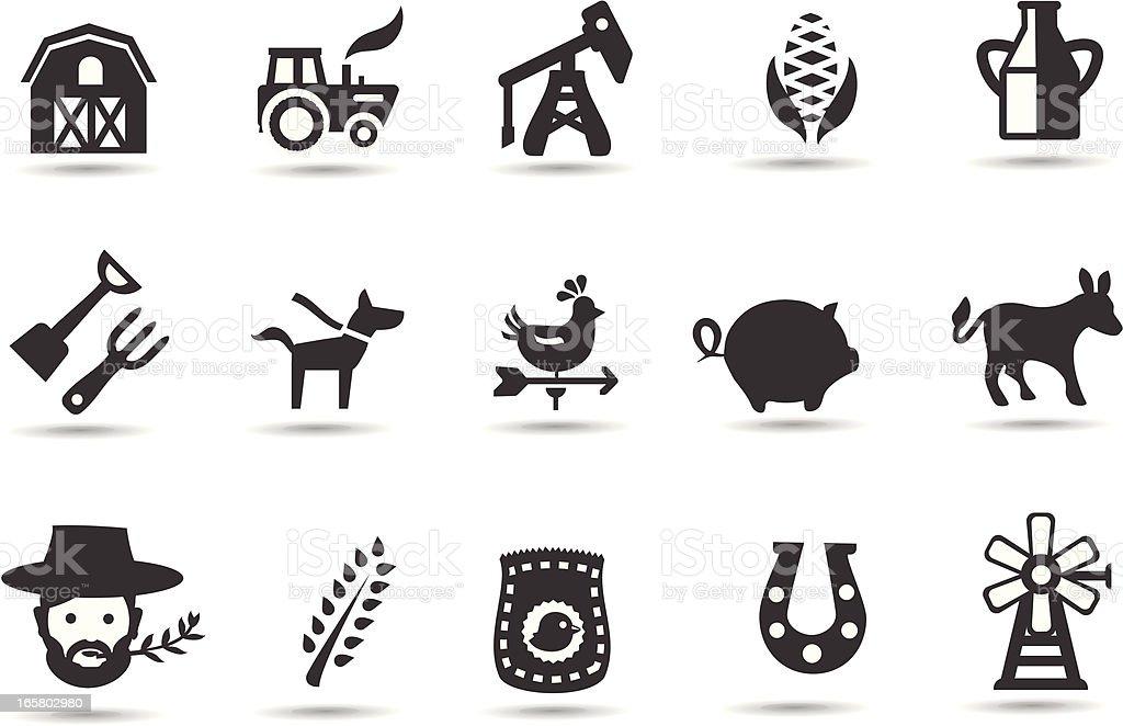 Farming Icons vector art illustration