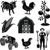 Vector illustrations witha farming theme:
