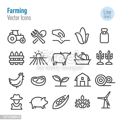 istock Farming Icons - Vector Line Series 1074296970