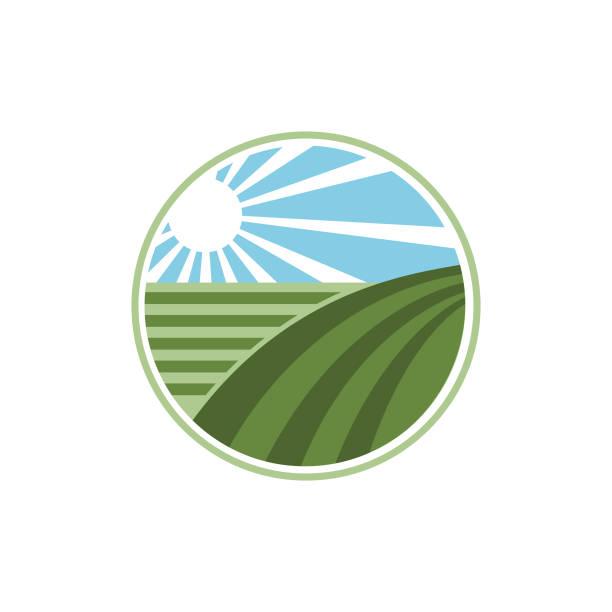 farming logo vector - clip art of a black and white barn stock illustrations, clip art, cartoons, & icons