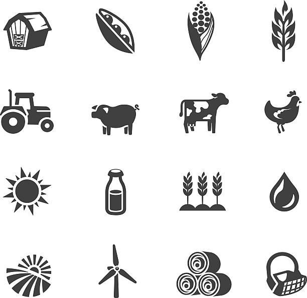 ilustrações, clipart, desenhos animados e ícones de agricultura símbolos - corn farm