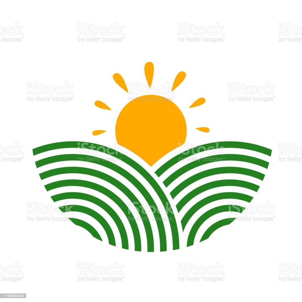 Farmland Logo Rural Landscape Design Agriculture Illustration