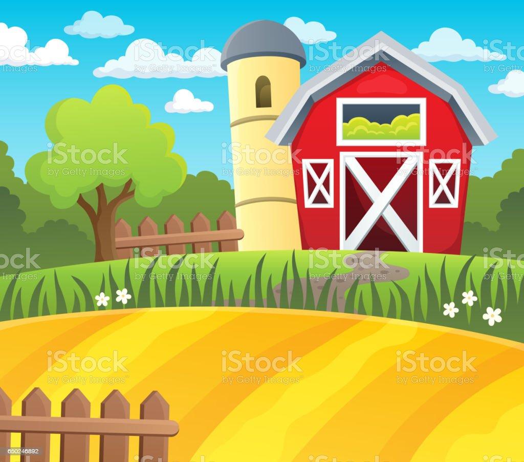 Farmland theme background 1 vector art illustration
