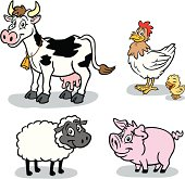 Great set of farm animals. Perfect for a farming illustration. EPS and JPEG files included. Be sure to view my other illustrations, thanks!