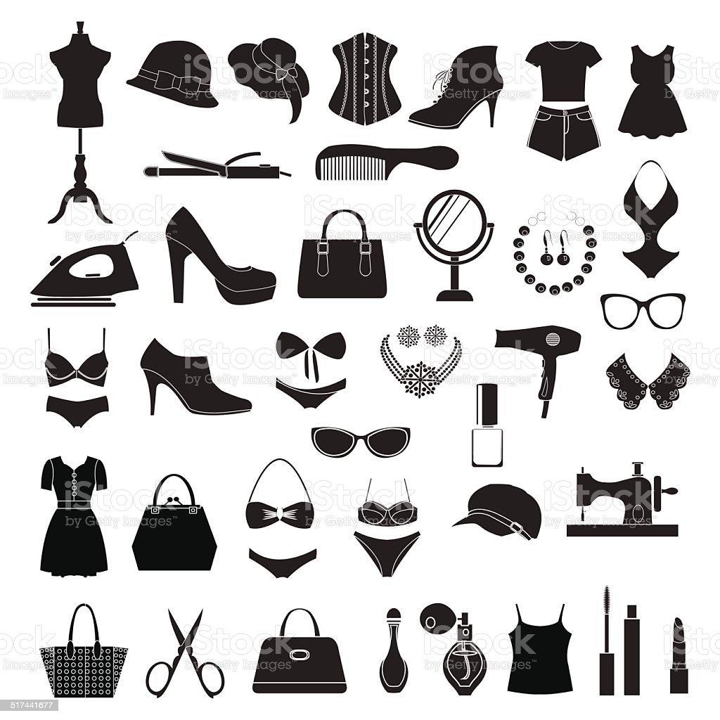 Fashion accessories - Illustration vector art illustration