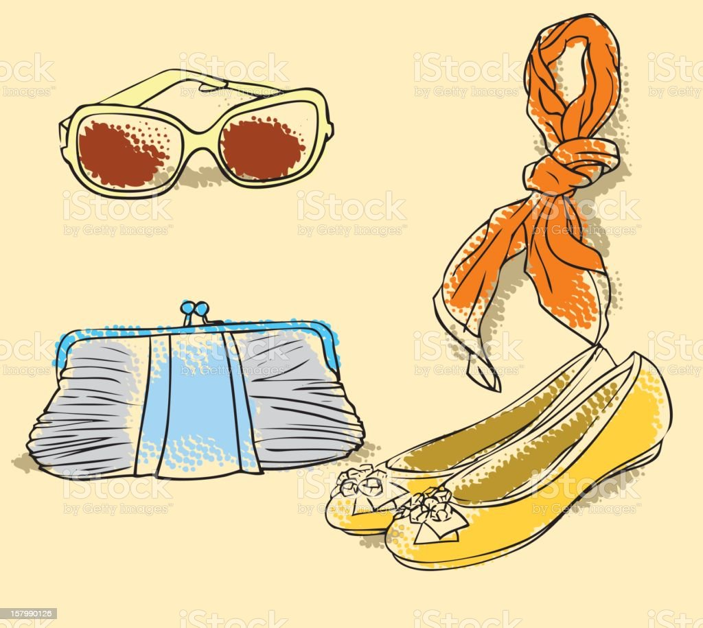 Fashion Accessories royalty-free stock vector art
