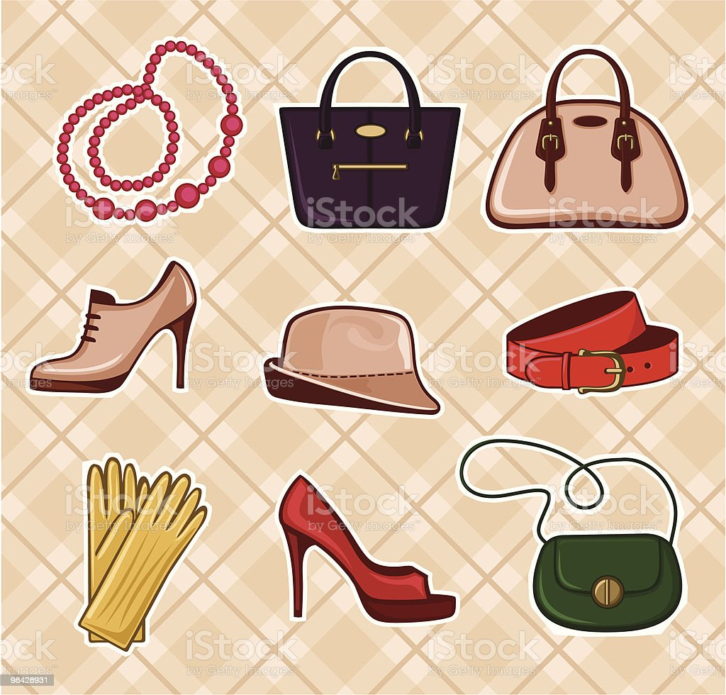 Fashion Accessories royalty-free fashion accessories stock vector art & more images of bag