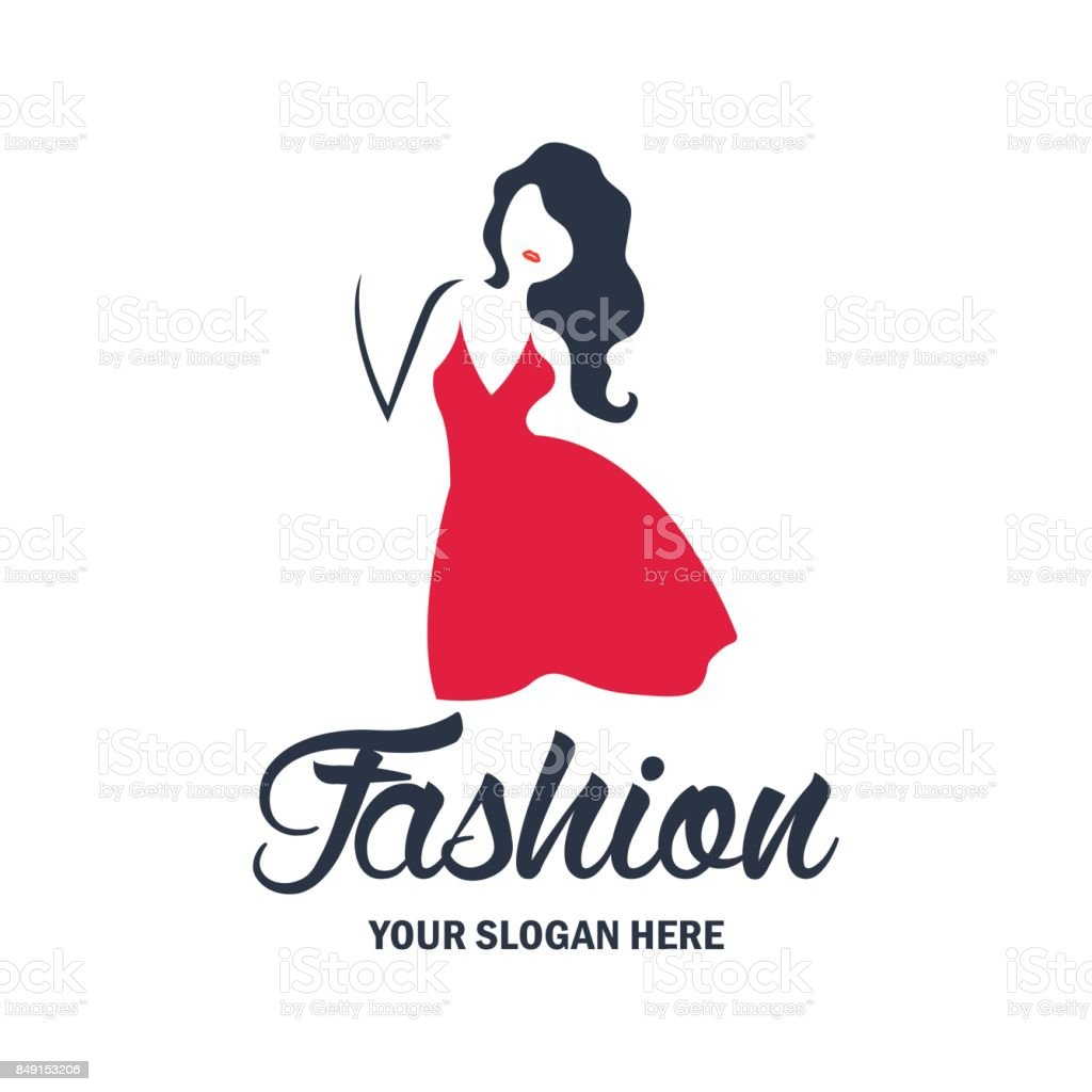 Fashion Huts Logo: Fashion And Beauty Icon And Emblem With Text Space For