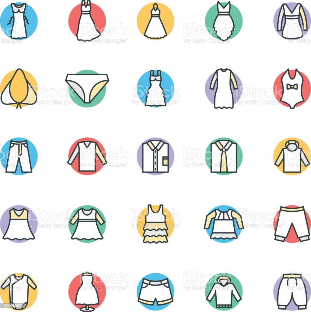 Fashion and Clothes Cool Vector Icons 9 royalty-free fashion and clothes cool vector icons 9 stock vector art & more images of adult
