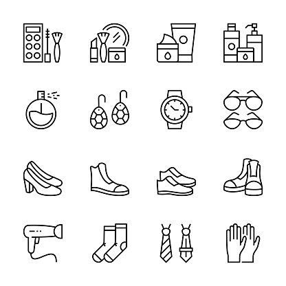 Fashion And Lifestyle Line Icons
