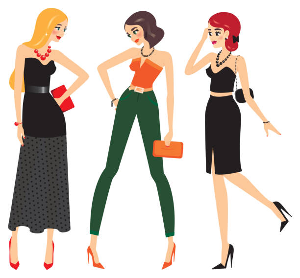 Mode und Frau – Vektorgrafik