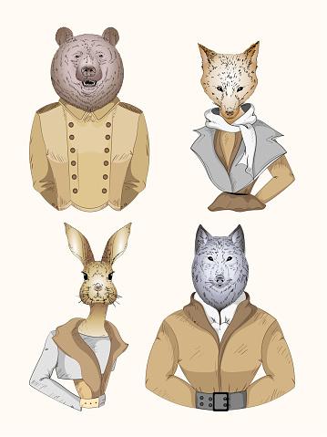 Fashion animal character