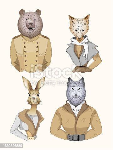 istock Fashion animal character 1330726889