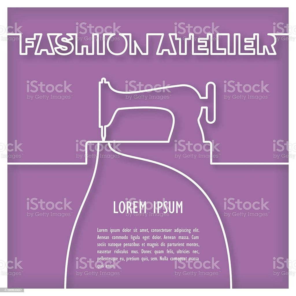 Fashion Atelier Template vector art illustration