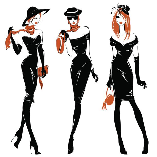 Best Fashion Designer Illustrations, Royalty-Free Vector