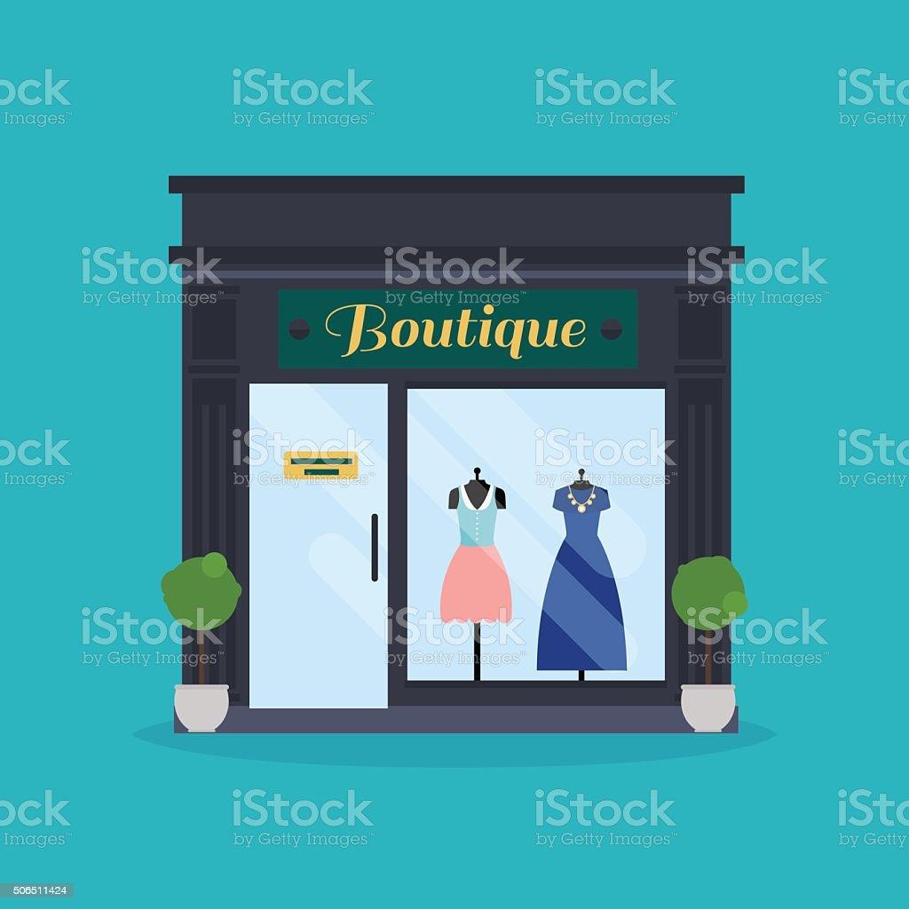 Fashion boutique facade. Clothes shop. Ideal for market business vector art illustration