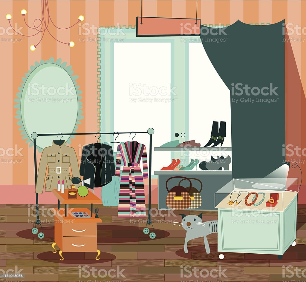 fashion boutique royalty-free fashion boutique stock vector art & more images of bag