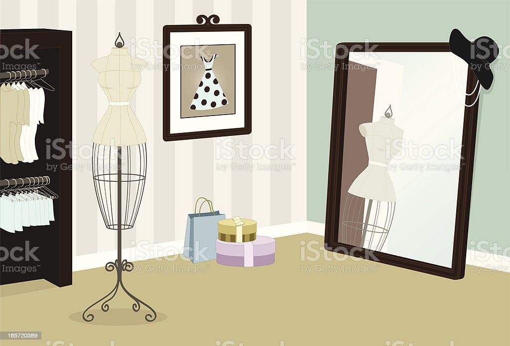 Fashion Boutique royalty-free stock vector art