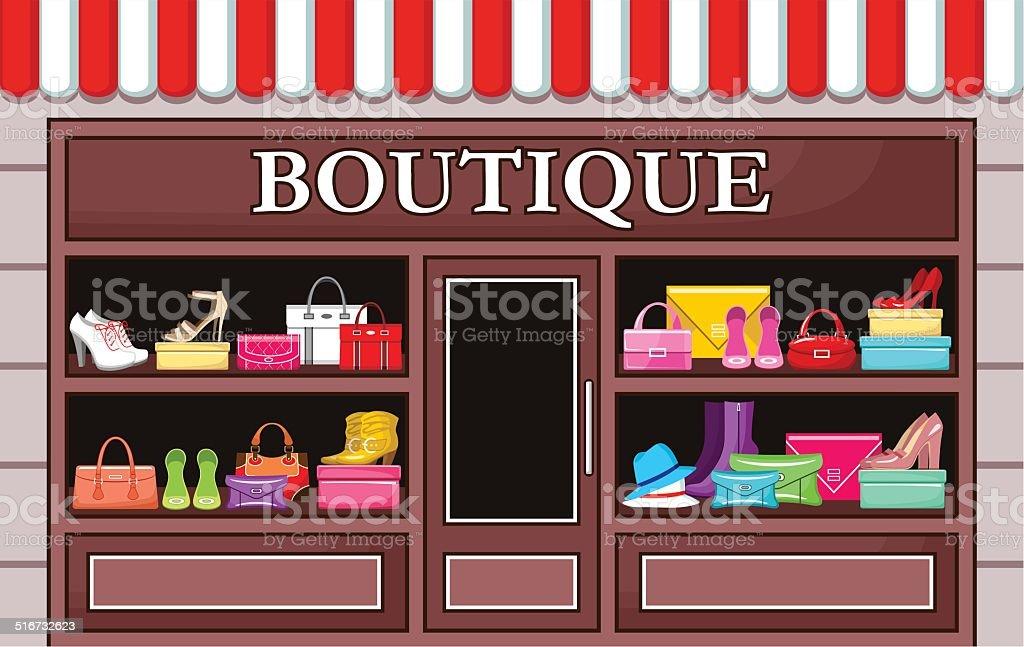 Fashion boutique. vector art illustration