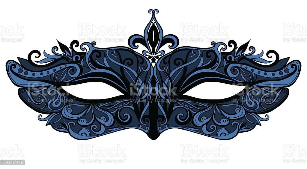 Fashion carnaval mask vector art illustration