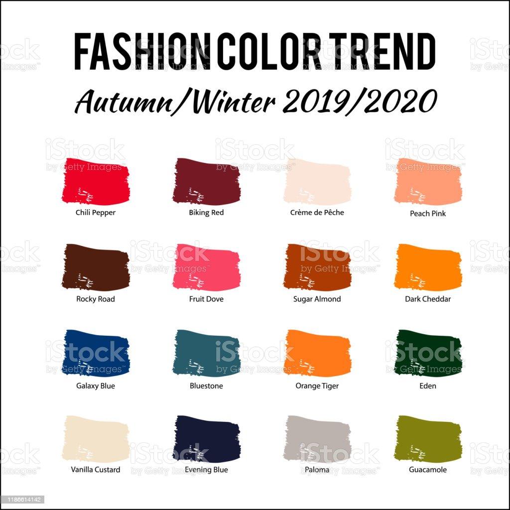 Fashion Color Trend Autumn Winter 2019 2020 Trendy Colors ...