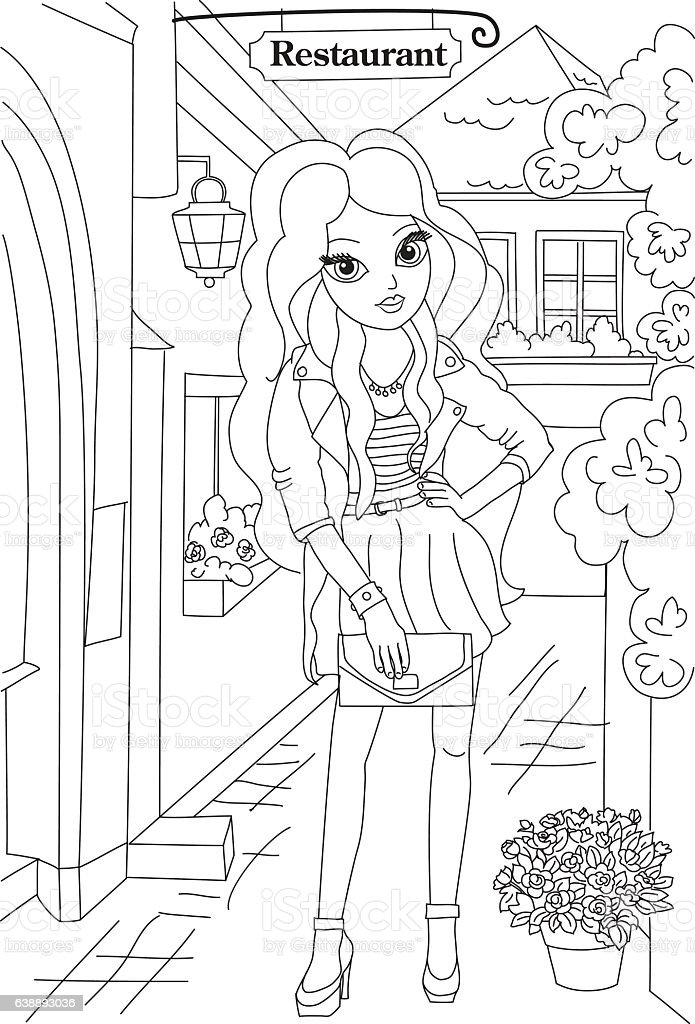 - Fashion Coloring Book Page Stock Illustration - Download Image Now - IStock
