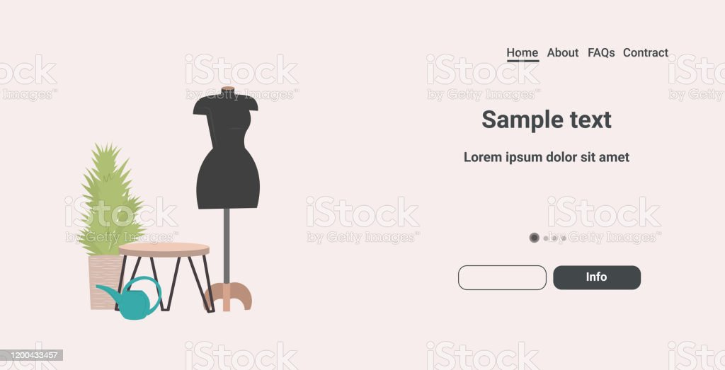 Fashion Creative Design Studio With Mannequin Dressmaking Workplace Tailor Shop Sewing Workshop Concept Horizontal Copy Space Stock Illustration Download Image Now Istock