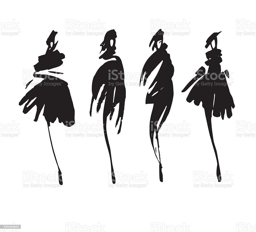 fashion design vector art illustration