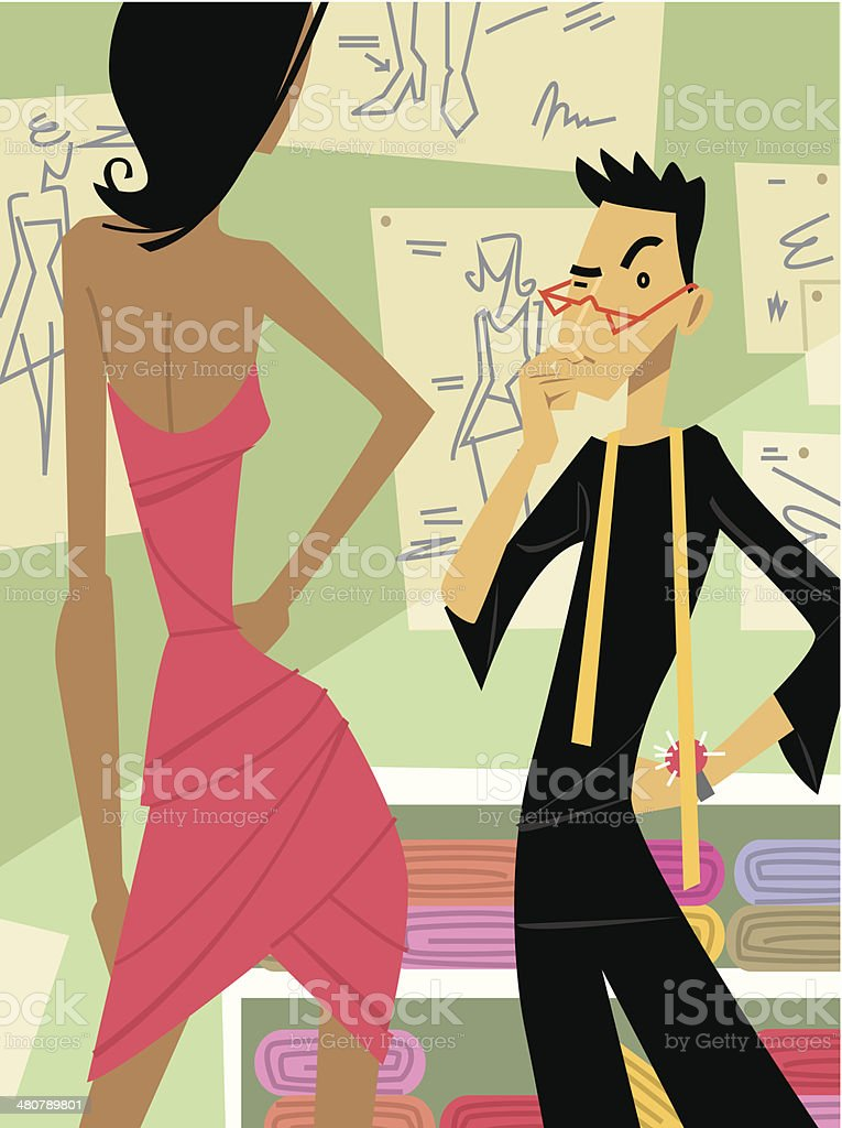 Fashion Designer C vector art illustration