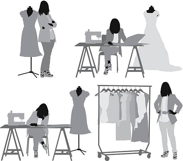 2 322 Fashion Designer Illustrations Royalty Free Vector Graphics Clip Art Istock