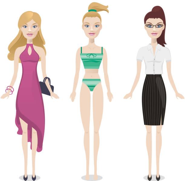 Fashion muñecas 2 - ilustración de arte vectorial
