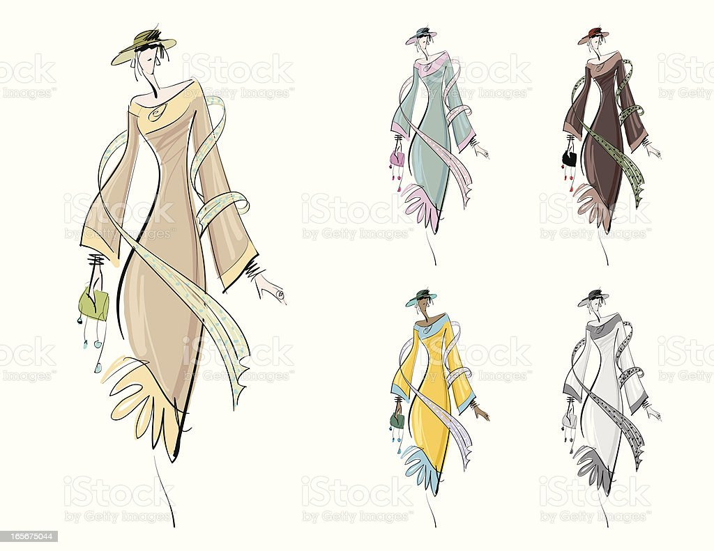 Fashion Drawing vector art illustration