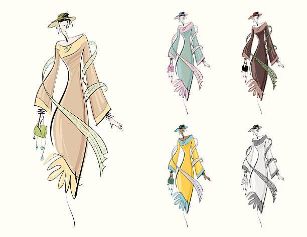 mode-zeichnung - couture stock-grafiken, -clipart, -cartoons und -symbole