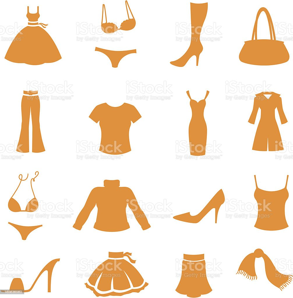 Fashion Essentials royalty-free stock vector art