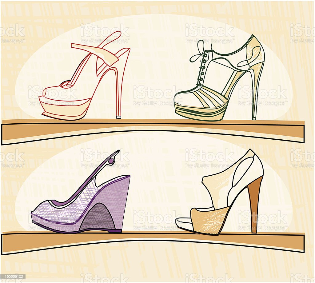 fashion footwear royalty-free fashion footwear stock vector art & more images of beauty