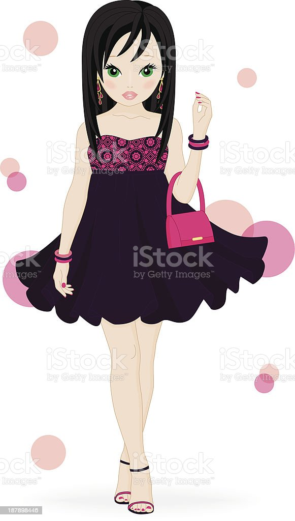 fashion girl royalty-free fashion girl stock vector art & more images of adult