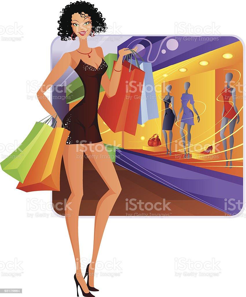 Fashion girl royalty-free stock vector art
