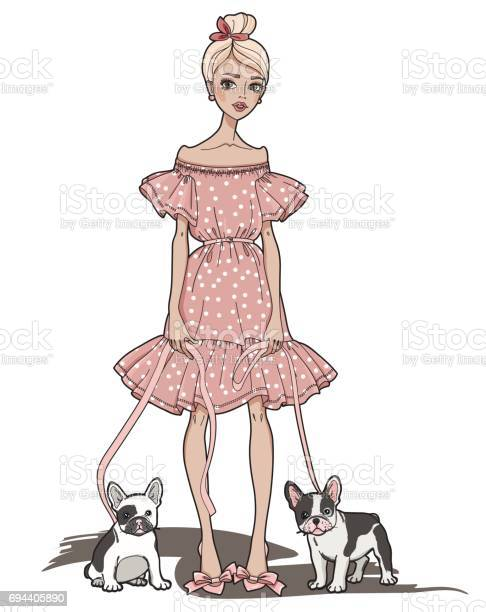 Fashion girl with cute french bulldog vector id694405890?b=1&k=6&m=694405890&s=612x612&h=hucgl8 6nfx5kocrda4bttqbokamal2acnhsisdhhgo=