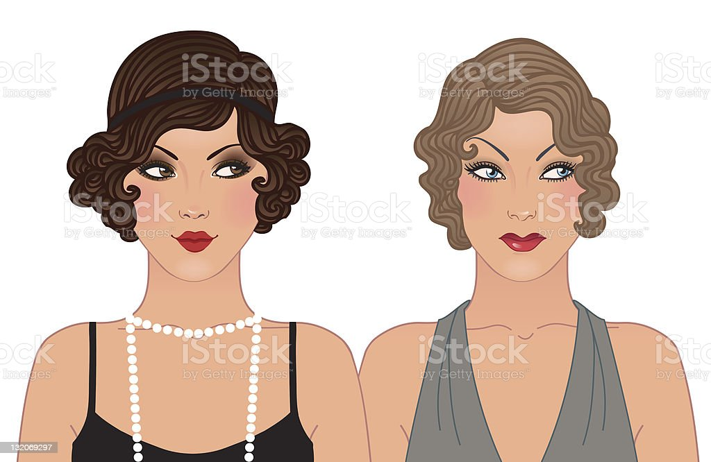 Magnificent Fashion Hairstyle And Makeup Of 19201930 Stock Illustration Schematic Wiring Diagrams Amerangerunnerswayorg