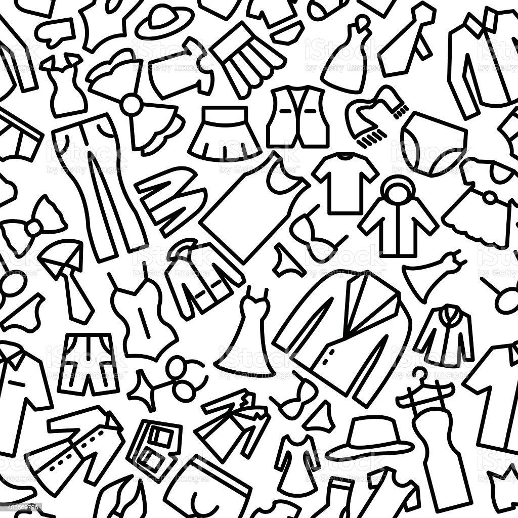 Ilustración de Moda Esbozos Dibujados A Mano Patrón Sin Costuras ...
