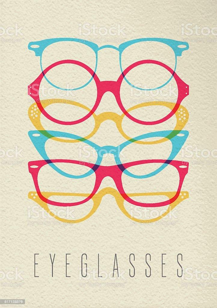 Fashion hipster glasses concept color design vector art illustration