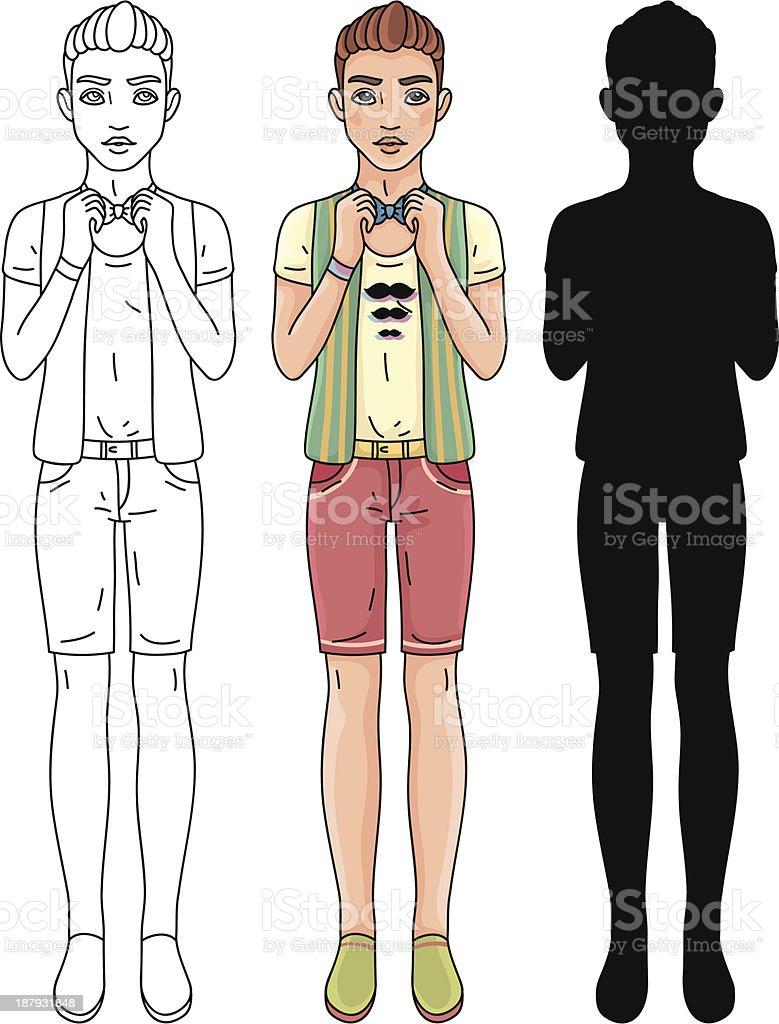 Fashion hipster man royalty-free stock vector art