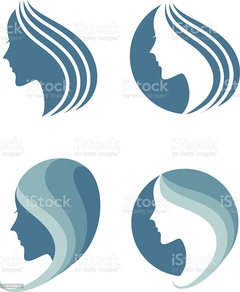 fashion icon. symbol of female beauty vector art illustration