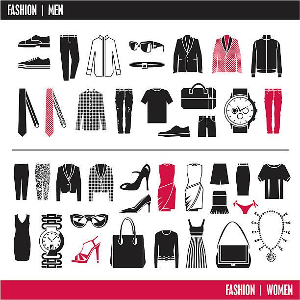 ファッションアイコン。 洋服ます。 - 靴のファッション点のイラスト素材/クリップアート素材/マンガ素材/アイコン素材