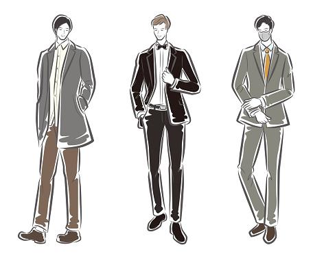 Fashion illustration of the man
