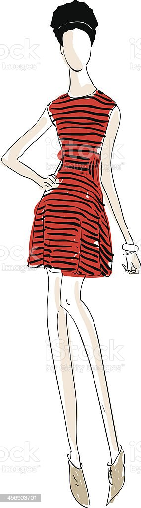 Fashion Illustration vector art illustration