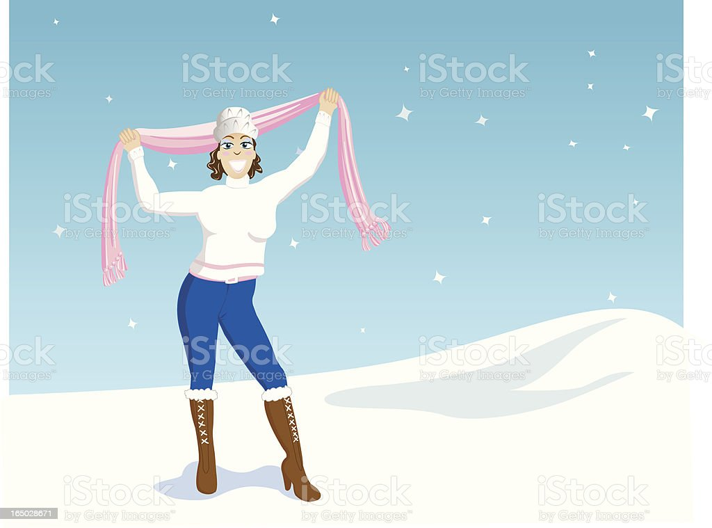Fashion in the Snow royalty-free stock vector art