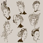 Fashion Ladies Hat 1950's Style